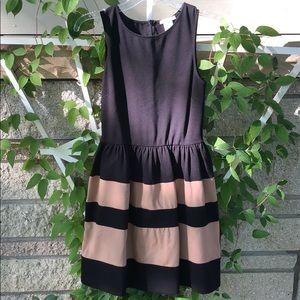 Black and tan formal dress